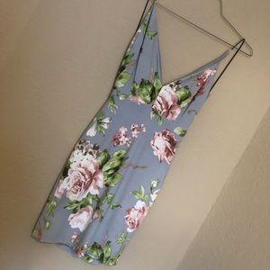 Backless floral Fashionova dress. New, with tags!